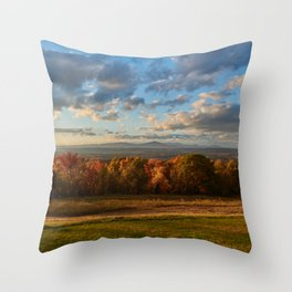 Million Dollar view of the Catskills Throw Pillow