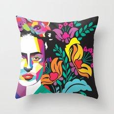 Frida Flores Throw Pillow