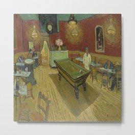 Vincent van Gogh's The Night Café Metal Print