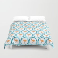 Flamingo and Leaves Duvet Cover
