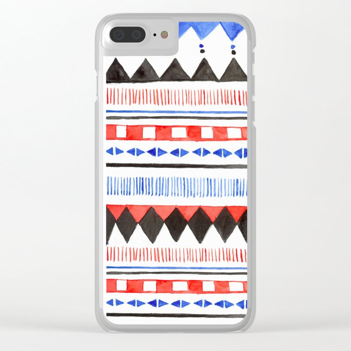 Tribal pattern Art print Clear iPhone Case by sherbetpaper