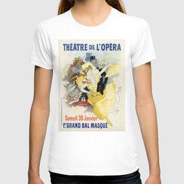 Paris masquerade ball 1896 by Chéret T-shirt
