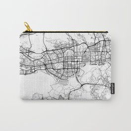 Shenzhen Map White Carry-All Pouch