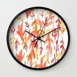 170814 Leaves Watercolour 2 Wall Clock