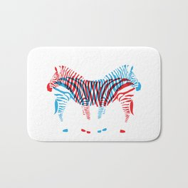 Que Zebra Zebra Bath Mat