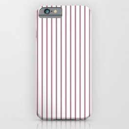 Princess Plum Pinstripe on White iPhone Case