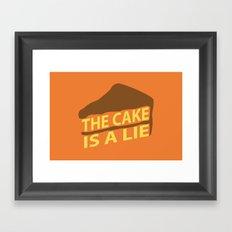 The Cake Is A Lie (Orange Version) Framed Art Print