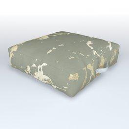 Kintsugi Ceramic Gold on Green Tea Outdoor Floor Cushion