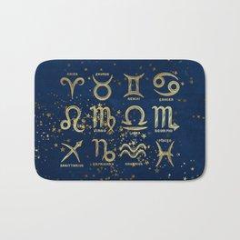 The 12 Zodiac Signs Bath Mat