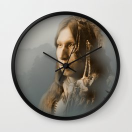 Peter Iron Shell, Sioux Indian Wall Clock