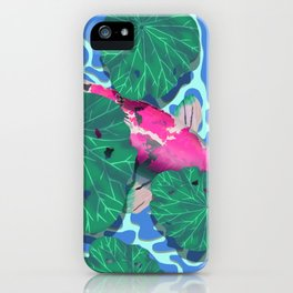 Pink Koi under Lilly Pads iPhone Case