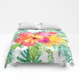 Floral paradise Comforters