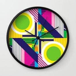 Geometric Colorfull Pattern IV Wall Clock