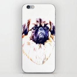 Lion Dog (white background) iPhone Skin