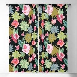 California Rose Garden Blackout Curtain