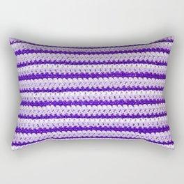 Purple Stripes Rectangular Pillow