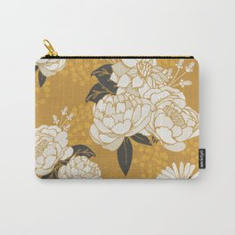Glam Florals - Gold Carry-All Pouch