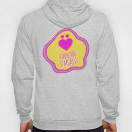 'I Love You Umlaut' Valentine's Pattern - Neon & Bright Hoody
