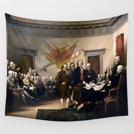 Signing The Declaration Of Independence Wall Tapestry