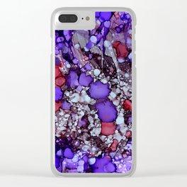 Erratic Purple Clear iPhone Case