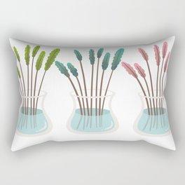 Flower vases, glass vase. Rectangular Pillow