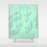 boats Shower Curtains featuring 'Boats' by Mr and Mrs Quirynen