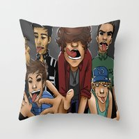 gorillaz Throw Pillows featuring Gorillaz 1D by cargdoodles