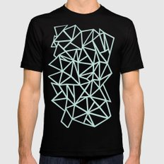 Ab Outline Thick Mint Black Mens Fitted Tee MEDIUM
