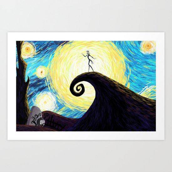 Starry Nightmare Art Print