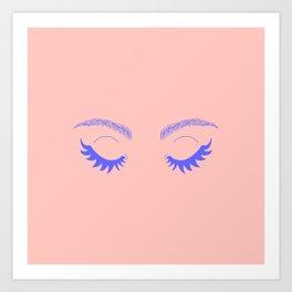 Betty Gone Batty (Millennial Pink Edition) Art Print