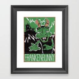 Frankenbunny Framed Art Print