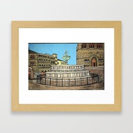 fontana maggiore, perugia Framed Art Print