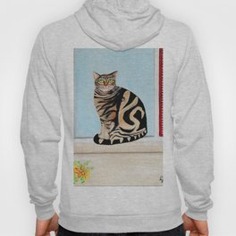 Cat sitting on window sill Hoody