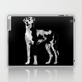 Harlequin Great Dane  -pearl and silver Laptop & iPad Skin