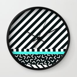 Memphis pattern 86 Wall Clock