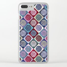 Colored Wood Pattern 3 / Color Variation Clear iPhone Case