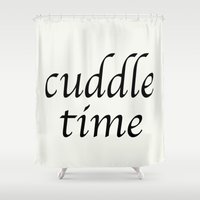 cuddle Shower Curtains featuring Cuddle Time by ELIZABETH THOMAS Photography of Cape Cod