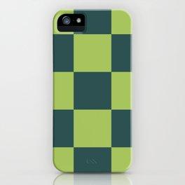 classic green plaid Luca iPhone Case
