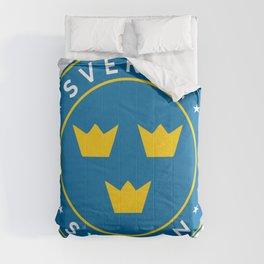 Sweden, Sverige, 3 crowns, circle Comforters