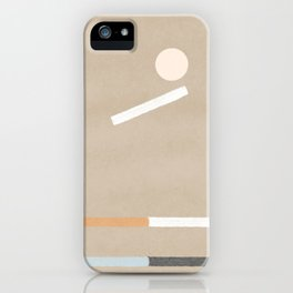 Balancing - minimal boho abstract design iPhone Case