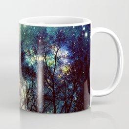 Black Trees Deeply Colorful Space Coffee Mug