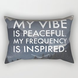 Peaceful Vibes, Inspired Frequencies Rectangular Pillow
