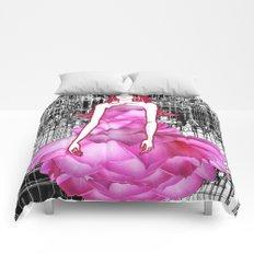 My rose dress fashion illustration concept. Comforters
