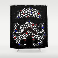 stormtrooper Shower Curtains featuring Stormtrooper by Saundra Myles