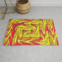Liquefied abstract Rug