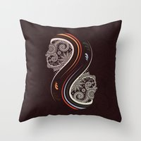 infinity Throw Pillows featuring Infinity by Sedef Uzer