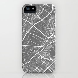 """"""" Travel Collection"""" - Grey And White Minimal Athens City Map iPhone Case"""