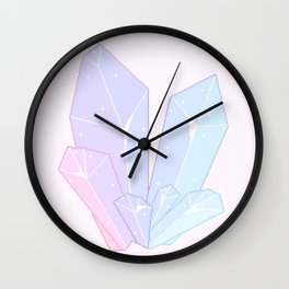 Crystal Fractures Wall Clock