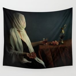 Lady justice with  pomegranate Wall Tapestry