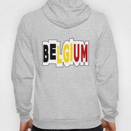 Belgium Font #1 with Belgian Flag Hoody